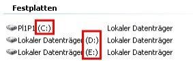 Heimnetzwerk Anleitung: Was ist eine Windows Freigabe? Arbeitsplatz Laufwerkbuchstaben anzeigen - Wo stehen die Laufwerksbuchstaben, Laufwerksbezeichung