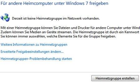 Heimnetzwerk Tutorials: Windows 7 Heimnetzwerk erstellen - Neue Heimnetzgruppe erstellen