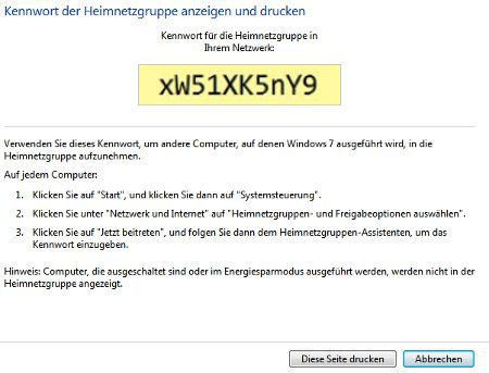 Heimnetzwerk Tutorials: Windows 7 Heimnetzwerk erstellen - Heimnetzgruppen Kennwort anzeigen und drucken
