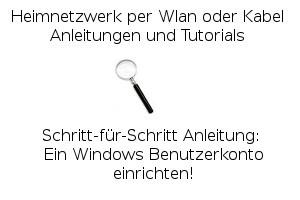 Anleitung: Ein Windows Benutzerkonto einrichten