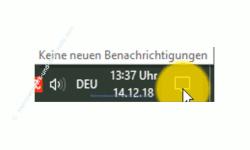 Windows 10  Tutorial - Die Anzeige von Benachrichtigungen im Infocenter anpassen! - Anzeige in der Taskleiste, dass der Benachrichtigungsassistent deaktiviert ist
