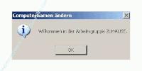 Tutorial Arbeitsgruppenname ändern -  Windows Willkommensmeldung zur neuen Arbeitsgruppe