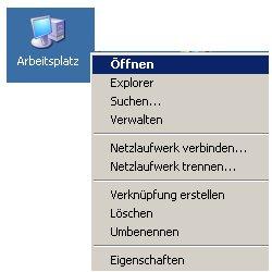 Schritt für Schritt Anleitung: Netzlaufwerk verbinden mit Hilfe des Windows Explorers - arbeitsplatz-kontext-öffnen