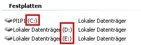 Heimnetzwerk Anleitung: Was ist eine Windows Freigabe? Arbeitsplatz Laufwerkbuchstaben anzeigen - Wo stehen die Laufwerksbuchstaben, Laufwerksbezeichnung