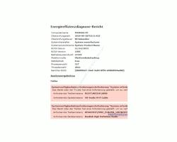 Windows 10 Tutorial - Die Energieeinstellungen mit dem Tool powercfg prüfen und Stromfresser herausfinden, um Energie zu sparen! - Ausschnitt aus dem Energieeffizienzdiagnose Bericht des Befehls powercfg