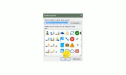 Windows 10 Tutorial - Einen beliebigen Ordner in die Taskleiste einbinden - Auswahlliste für die Auswahl eines Anwendungssymboles