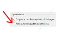 Windows 10 Tutorial - Den altbewährten Bluescreen zur Problemanalyse bei Computerabstürzen nutzen - Automatischen Systemstart durch Deaktivierung der Option Automatisch Neustart durchführen verhindern