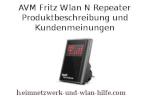 AVM Fritz Wlan N Repeater - Produktbeschreibung und Kundenmeinungen