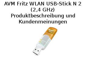 AVM Fritz WLAN USB-Stick N 2 (2,4 GHz) - Produktbeschreibung und Kundenmeinungen