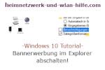 Windows 10 Tutorial - Bannerwerbung im Explorer abschalten!