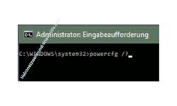 Windows 10 Tutorial - Die Energieeinstellungen mit dem Tool powercfg prüfen und Stromfresser herausfinden, um Energie zu sparen! - Befehl zum Anzeigen der Hilfe und Optionen für den Systembefehl powercfg