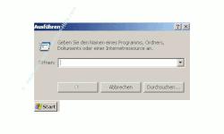 Benutzergruppen anzeigen lassen - Fenster Ausführen mit Eingabefeld
