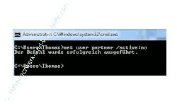 Windows 7 Benutzerkonten schnell aktivieren und deaktivieren - Deaktiviertes Benutzerkonto