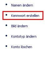 Schritt für Schritt Anleitung: Windows Benutzerpasswort Passwort ändern - Fenster Benutzerkonten - Option - Kennwort - Passwort erstellen