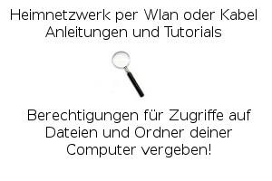 Berechtigungen für Zugriffe auf Dateien und Ordner deiner Computer vergeben!