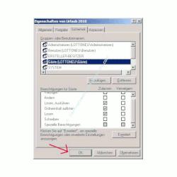 Windows Netzwerk Anleitung: Berechtigungen für Zugriffe auf Dateien und Ordner deiner Computer vergeben! Änderungen OK