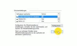 Windows 10 Tutorial - Systemwiederherstellungspunkte löschen – Button Erstellen eines Wiederherstellungspunktes