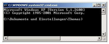 Netzwerk-Tutorial: MAC-Adresse der Netzwerkkarte herausfinden - Cmd Fenster