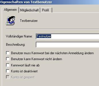 Windows Anleitung: Windows XP Benutzerkonto deaktivieren! Computerverwaltung - Eigenschaften eines Benutzerkontos anzeigen