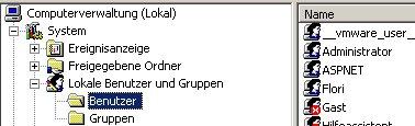 Heimnetzwerk Anleitung: Ein Windows Benutzerkonto löschen! Computerverwaltung - KLick auf den Ordner Benutzer unter Lokale Benutzer und Gruppen