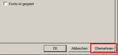 Anleitung: Windows XP Konto gesperrt - Konto wieder freigeben - Benutzerkonto Sperre aufheben - Computerverwaltung - Eigenschaften eines gesperrten Benutzerkontos anzeigen - Option Konto ist gesperrt ist inaktiv - Häcken ist nicht gesetzt - Änderungen übernehmen