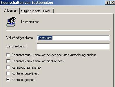 Anleitung: Windows XP Konto gesperrt - Konto wieder freigeben - Benutzerkonto Sperre aufheben - Computerverwaltung - Eigenschaften eines gesperrten Benutzerkontos anzeigen