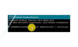 Windows 10 Tutorial - Das versteckte Administratorkonto aktivieren! - Das Benutzerkonto Administrator über die Kommandozeile aktivieren