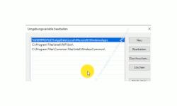 Windows 10 Tutorial - Programme direkt über die Kommandozeile starten - Das Konfigurationsfenster Umgebungsvariable bearbeiten