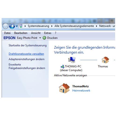 Das Netzwerk- und Freigabecenter unter Windows 7