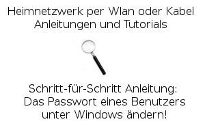 Das Passwort eines Benutzers unter Windows ändern!