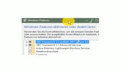 Windows 10 Netzwerk Tutorial - Warum werden Computer nicht im Netzwerk bzw. in der Netzwerkumgebung des Windows 10 Explorer angezeigt - Das Systemfenster Windows-Features aktivieren oder deaktivieren