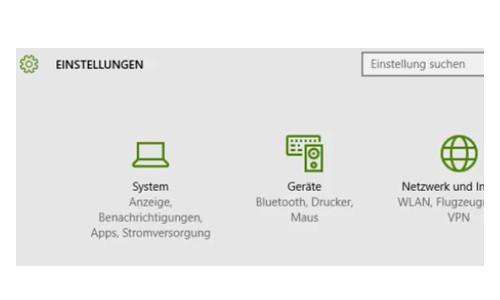 Windows 10 - Wichtige erste Anlaufstellen – Das Konfigurationsfenster Einstellungen