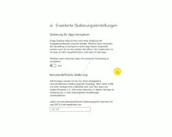 Windows Tutorial - Der Nachtmodus und die individuelle Skalierung von Desktopelementen - Das Konfigurationsfenster Erweiterte Skalierungseinstellungen