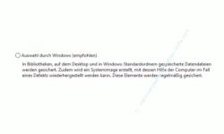 Windows 10 Tutorial - Wichtige Daten mit Windows-Bordmitteln ohne zusätzliches Backup-Programm sichern! - Datensicherungsoption: Auswahl durch Windows
