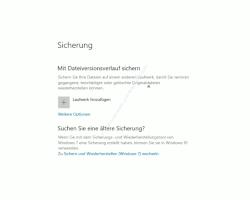 Windows 10 Tutorial - Wichtige Daten mit Windows-Bordmitteln ohne zusätzliches Backup-Programm sichern! - Datensicherungsoption Mit Dateiversionsverlauf sichern