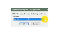 Windows 10 Tutorial - Systemwiederherstellungspunkte löschen – Datenträgerbereinigung, Auswahl des Laufwerkes
