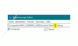 Windows 10 Tutorial - Ein Fenster durch Zeigen mit der Maus aktivieren! - Den Registry-Schlüssel- HKEY_CURRENT_USER\Control Panel\Desktop\ aufrufen