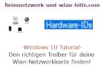 Windows 10 Netzwerk Tutorial - Den richtigen Treiber für deine Wlan-Netzwerkkarte finden!