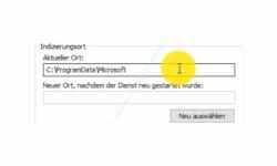 Windows 10 Tutorial - Suche über die Konfiguration der Indizierungsoptionen beschleunigen! - Den Speicherort der Windows 10 Suchindexierungsdatenbank (Indizierungsort) ändern