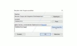 Windows 10 Tutorial - Den Zugriff auf Ordner und Dateien eines Computers überwachen! - Den zu überwachenden Prinzipal Benutzer auswählen