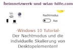 Windows Tutorial - Der Nachtmodus und die individuelle Skalierung von Desktopelementen!