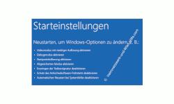 Windows 10 Tutorial - Windows 10 im abgesicherten Modus starten, um Probleme mit Treibern, Schadsoftware oder Viren schnell zu lösen! - Die Ansicht der Starteinstellungen im Wiederherstellungs- und Reparaturoptionenmenü