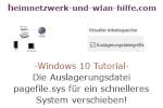 Windows 10 Tutorial - Die Auslagerungsdatei pagefile.sys für ein schnelleres System verschieben!