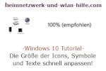 Windows 10 Tutorial - Die Größe der Icons, Symbole und Texte schnell anpassen!