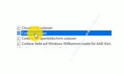 Windows 10 Tutorial - Such- und Sprachassistent Cortana unter Windows 10 Home deaktivieren - Die Gruppenrichtlinie Cortana zulassen