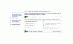 Windows 10 Tutorial - Mit dem Antivirenprogramm Windows Defender ein sicheres System konfigurieren! - Die Konfigurationsseite der Windows Defender Firewall