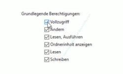 Windows 10 Tutorial - Den Zugriff auf Ordner und Dateien eines Computers überwachen! - Die Liste Grundlegende Berechtigungen