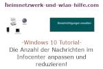 Windows 10 Tutorial - Die Anzahl der Nachrichten im Infocenter anpassen und reduzieren!
