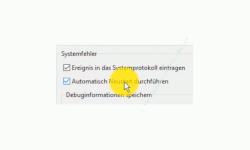Windows 10 Tutorial - Den altbewährten Bluescreen zur Problemanalyse bei Computerabstürzen nutzen – Die Option Automatischen Neustart durchführen, wenn ein Systemfehler auftritt