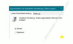 Windows 10 Tutorial - Zuletzt angemeldete Benutzer nicht im Anmeldebildschirm anzeigen! - Die Richtlinie Interaktive Anmeldung Zuletzt angemeldeten Benutzer nicht anzeigen aktivieren